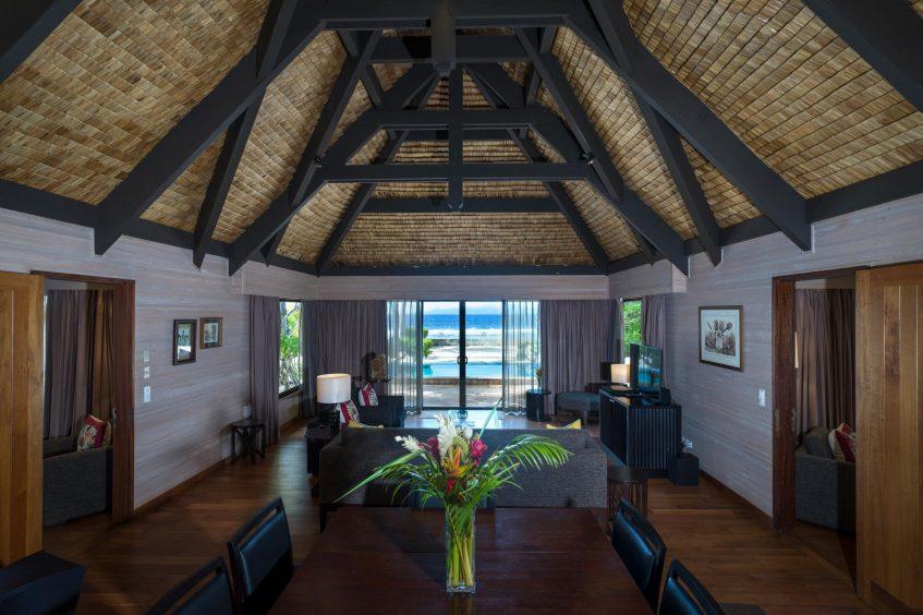 The St. Regis Bora Bora Resort - Bora Bora, French Polynesia - Two Bedrooms Garden Suite Villa Pool Living Area