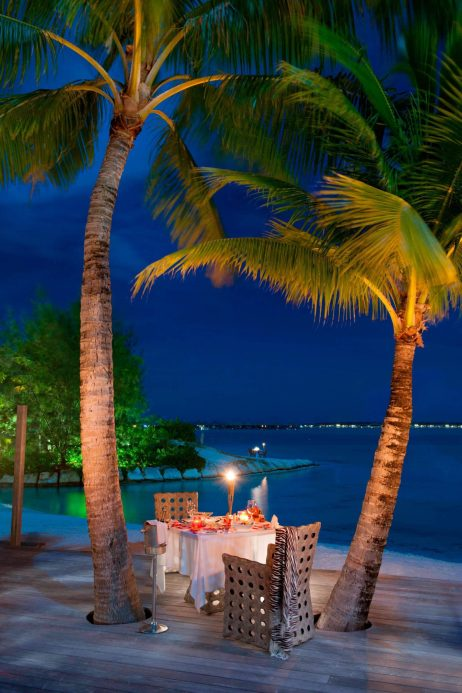 The St. Regis Bora Bora Resort - Bora Bora, French Polynesia - Royal Estate Night Dinner on Terrace